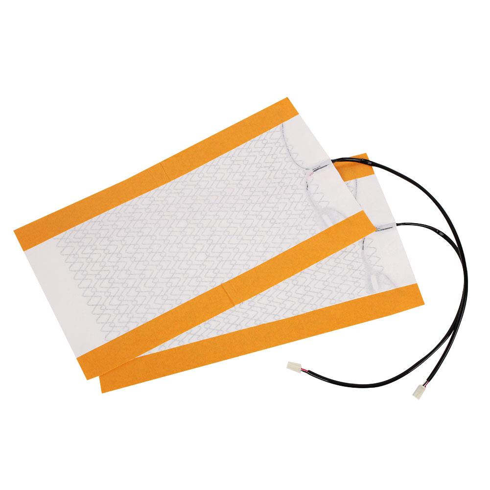 2Pcs Carbon Fiber Heating Auto Car Seat Heater Pad Cushion Cover 12V Universa