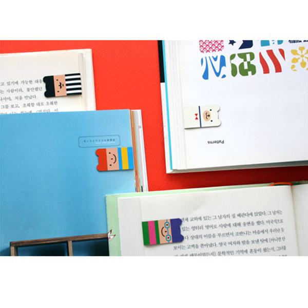 Cute Cartoon 4Pcs(1Set) Korean Magnetic Lucky Bookmark School Gift New