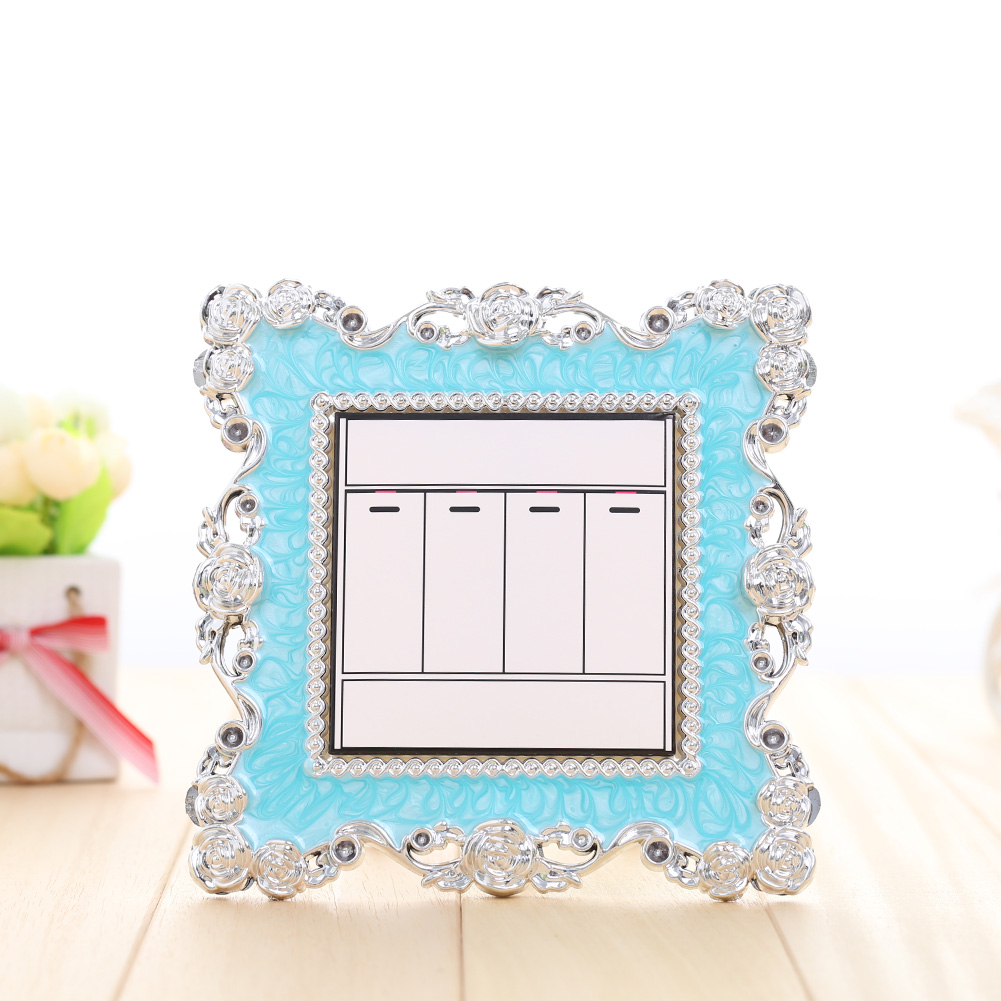 Floral lace light switch plate cover girls bedroom wall for Silver bedroom wall art